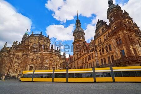 ドレスデン 建物 ドイツ 青 城 休暇 ストックフォト © lunamarina