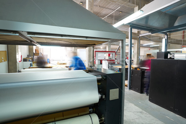 átutalás gép textil divat nyomtatott gyár Stock fotó © lunamarina