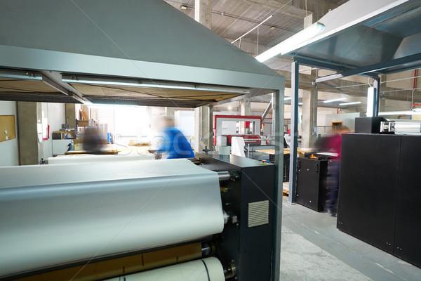 Transferir máquina textiles moda impresión fábrica Foto stock © lunamarina