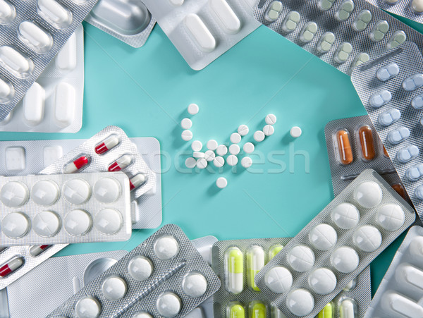 blister medical pills background pharmaceutical Stock photo © lunamarina