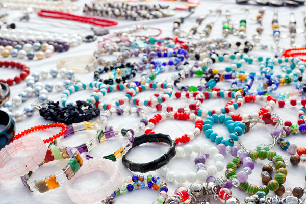 jewelry in a bargain market spread Stock photo © lunamarina