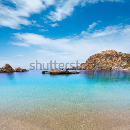 Formentera Raco des Forat with round tower Stock photo © lunamarina