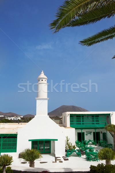 Cielo costruzione Palm verde chiesa Foto d'archivio © lunamarina