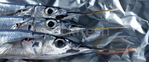 üç iğne balık makro küçük Stok fotoğraf © lunamarina