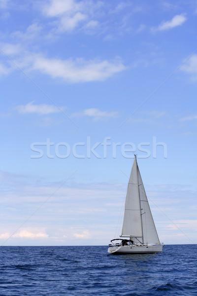 Stok fotoğraf: Mavi · deniz · yelkenli · yelkencilik · okyanus · yüzey