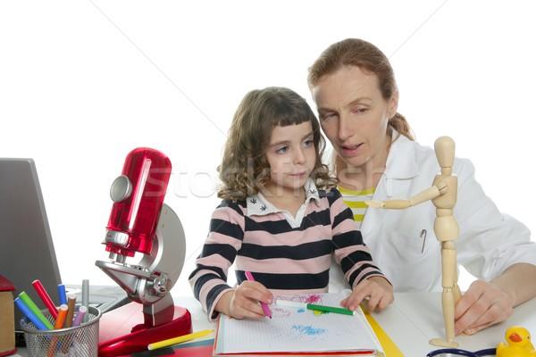 doctor natural sciences teaching school pupil Stock photo © lunamarina