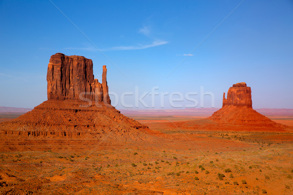 Vallei west wanten Utah hemel natuur Stockfoto © lunamarina