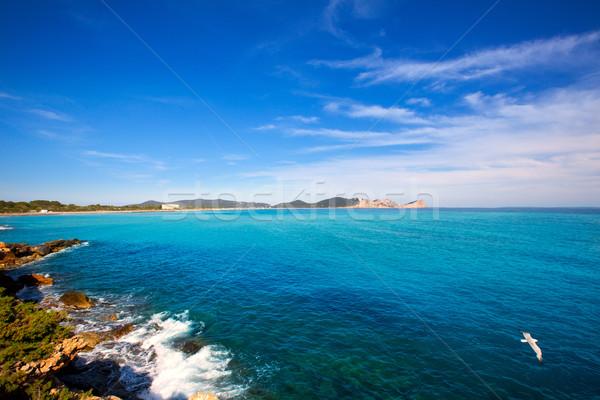 Ibiza Platja des Codolar and Cap des Falco at Balearics Stock photo © lunamarina
