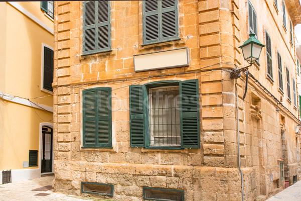 歴史的 タウン 市 夏 青 リラックス ストックフォト © lunamarina