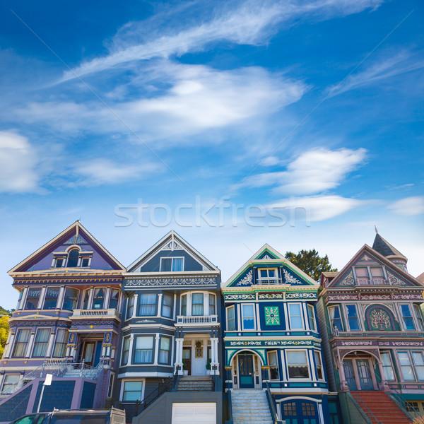 San Francisco házak Kalifornia USA út város Stock fotó © lunamarina