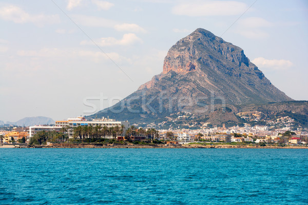 Javea Xabia port marina with Mongo mountain in Alicante Stock photo © lunamarina