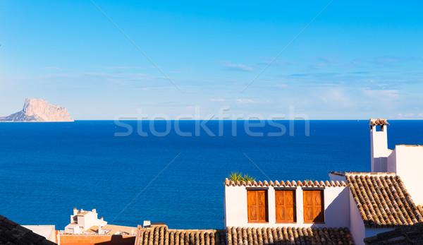 старые деревне белый типичный Средиземное море весны Сток-фото © lunamarina