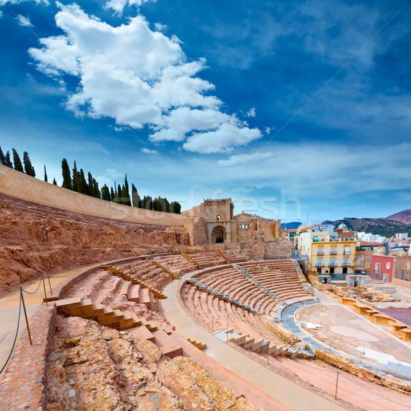 Cartagena Roman Amphitheater in Murcia Spain Stock photo © lunamarina