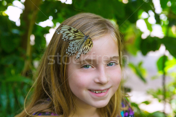 Girl butterfly head Rice Paper Idea leuconoe Stock photo © lunamarina