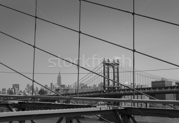 Manhattan Bridge from Brooklyn New York City Stock photo © lunamarina