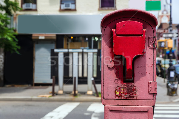 Brooklyn old Fire Alarm in red in Greenpoint NY Stock photo © lunamarina