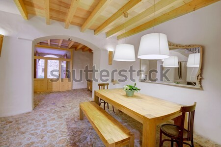 Stock photo: Majorca Balearic indoor house in Balearic Mediterranean style