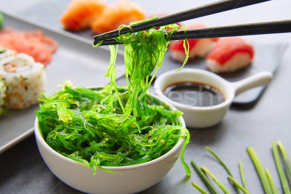 Sushi Maki and Niguiri soy sauce California roll Stock photo © lunamarina