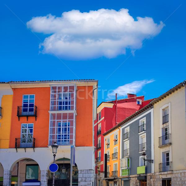 Burgos Street Santander arcades Castilla Spain Stock photo © lunamarina