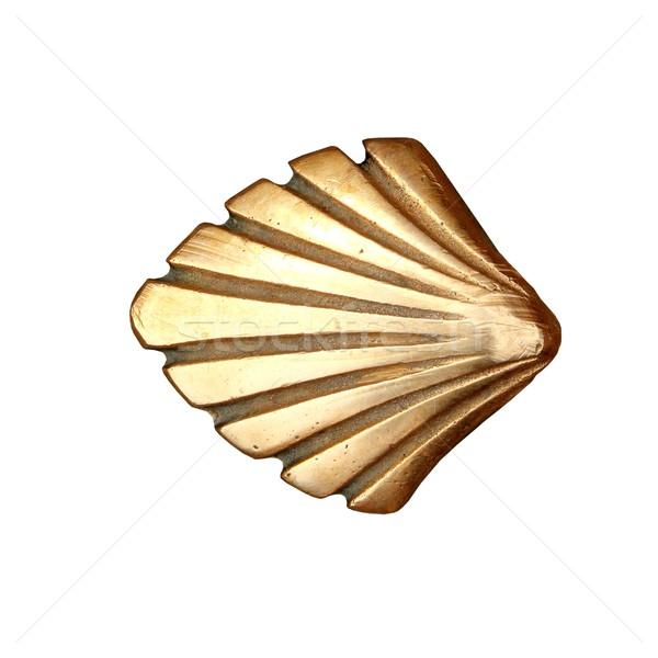 Saint façon shell or métal blanche Photo stock © lunamarina