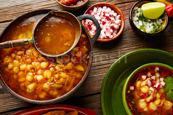 большой кукурузы тушеное мясо Мексика Ингредиенты закуска Сток-фото © lunamarina