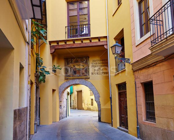 Valencia porta ív épület művészet vakáció Stock fotó © lunamarina