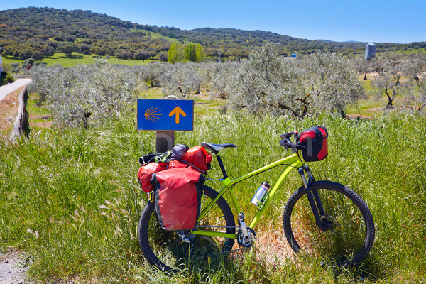 自転車 方法 にログイン ラ スペイン ストックフォト © lunamarina