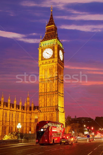 Big Ben horloge tour Londres Angleterre ciel Photo stock © lunamarina