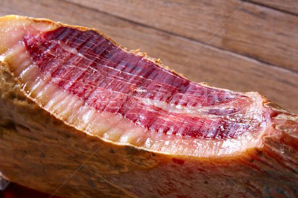 Iberian ham pata negra from Spain Stock photo © lunamarina