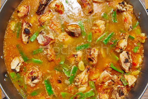 Stock photo: Paella from Spain recipe process ad water