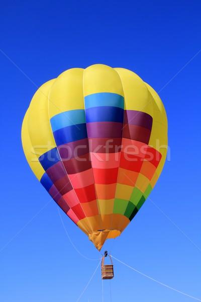 Ballon kleurrijk levendig kleuren blauwe hemel vliegen Stockfoto © lunamarina