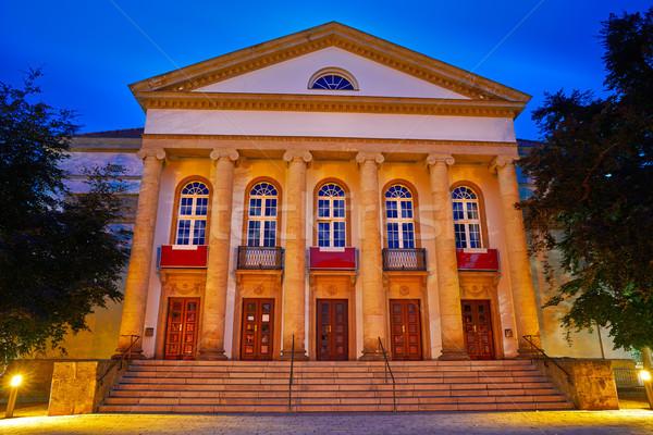 Színház éjszaka Németország művészet nyár utazás Stock fotó © lunamarina