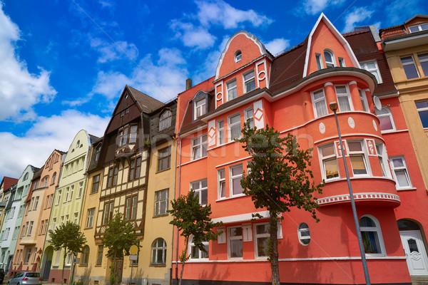 Centro da cidade Alemanha rua montanha verão viajar Foto stock © lunamarina