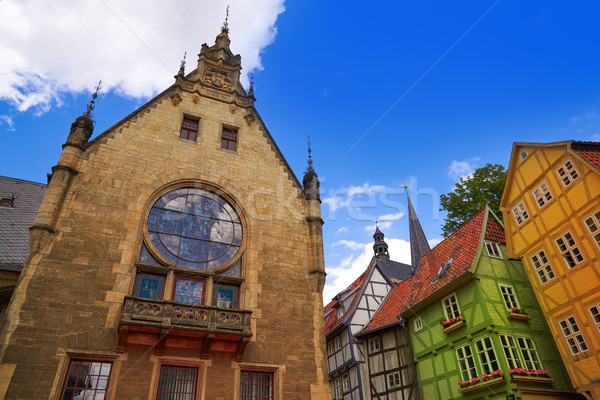 Stock photo: church Quedlinburg facade in Harz Germany