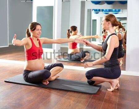 аэробика пилатес женщины йога Сток-фото © lunamarina