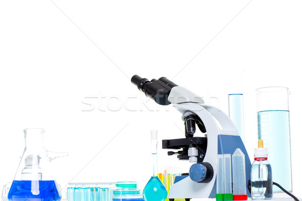 Chemical scientific laboratory stuff microscope test tube Stock photo © lunamarina