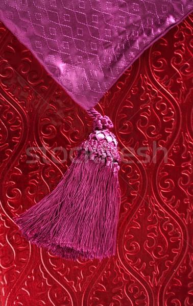 Red wallpaper, and pink purple braid Stock photo © lunamarina
