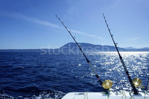 Kék trollkodás csónak halászat sósvízi mediterrán Stock fotó © lunamarina