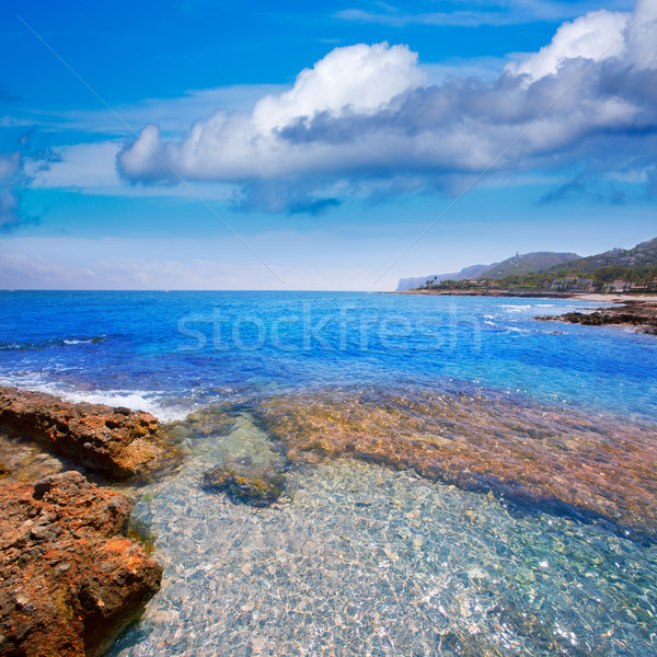 Denia Alicante Las rotas rocky beach in Spain Stock photo © lunamarina