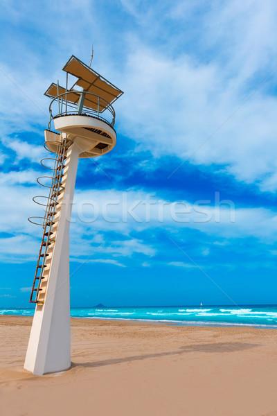 La manga plaży Hiszpania wody chmury Zdjęcia stock © lunamarina