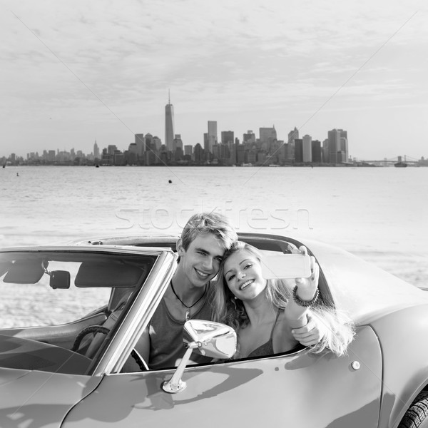 New York Manhattan genç genç çift Stok fotoğraf © lunamarina