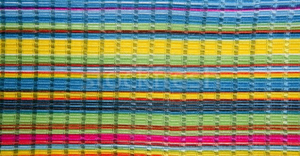 Colorful vibrant fabric color lines like rainbow Stock photo © lunamarina