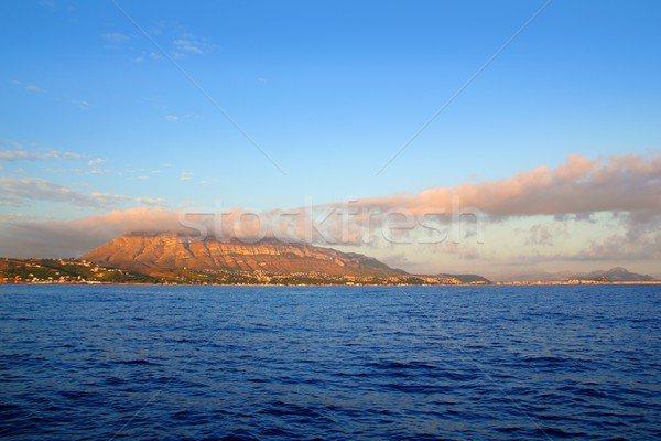 montgo mountain in blue Mediterranean dea Denia Stock photo © lunamarina