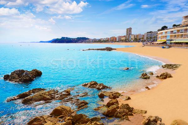 Lloret de Mar beach in costa Brava of Catalonia Stock photo © lunamarina