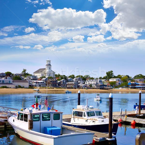 Cape cod port Massachusetts USA plage ciel Photo stock © lunamarina