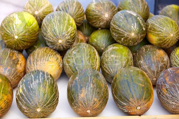 Melons from Mediterranean stacked Stock photo © lunamarina