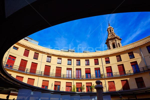 Valencia Plaza redonda round square Stock photo © lunamarina