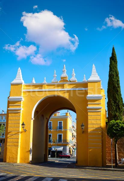 Seville Puerta de la Macarena Arch door Spain Stock photo © lunamarina