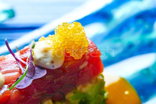 Atum peixe alga fundo jantar Foto stock © lunamarina