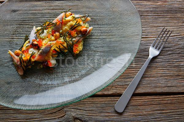 Salata kremsi peynir mısır füme gıda Stok fotoğraf © lunamarina
